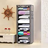 COROID Fancy and Portable Foldable Collapsible Closet/Cabinet Collapsible Wardrobe Organizer, Multipurpose Storage Rack…