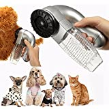 SMARTLADY Aspiradora Limpiador para Mascota Gato Perro Removedor Polvo del Piel y pelo (Plata)