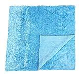 Sonty 2 Stück Poliertücher fürs Auto Superplüsch Microfaser 40 x 40 cm blau, randlos, Lasercut