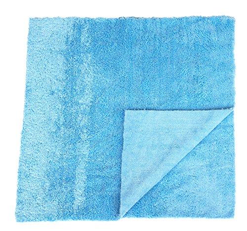 Preisvergleich Produktbild Sonty 2 Stück Poliertücher fürs Auto Superplüsch Microfaser 40 x 40 cm blau, randlos, Lasercut