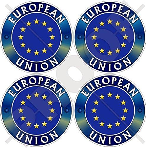 Europa EUROPÄISCHEN UNION flag-emblem EU 50mm (5,1cm) Vinyl bumper-helmet Sticker, Aufkleber X4 -