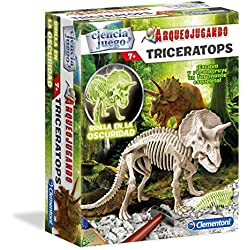Ciencia y Juego Arqueo Jugando Triceratops Fluorescente Clementoni 550319