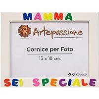 Cornici per foto in legno con la scritta Mamma Sei Speciale, da appoggiare o appendere, misura 13x18 cm Bianca. Ideale…
