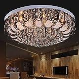MSAJ-Kristall Deckenleuchte Runde LED-Lampe ist modernen minimalistischen Wohnzimmer Schlafzimmer Esszimmer Kronleuchter kreative Lichtatmosph?re , 50*50cm with remote control