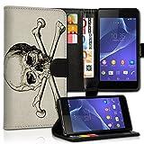 wicostar Book Style Alcatel One Touch Go Play 7048X Premium PU-Leder Tasche Flip Brieftasche Handy Hülle Kartenfächer mit Standfunktion für Alcatel One Touch Go Play 7048X - Design Flip MVC136