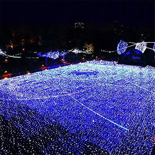 LUCKY CLOVER-AWeihnachten Fairy Net Lichter Outdoor Indoor 2600 LEDs 10 mt * 8 mt Kaltlichtquelle Party Hochzeit Geschenk Decor (kann angepasst werden)