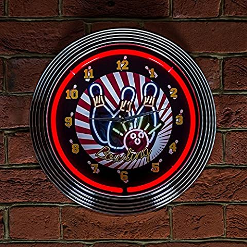Bowling Neon Uhr, 240 V, UK-Stecker, 3-polig