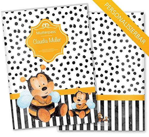 eilig Creative Royal Schutzhüllet olle Geschenkidee personalisierbar mit Namen (Mutterpass personalisiert, Biene) ()