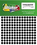 714 Klebepunkte, 10 mm, schwarz, aus PVC Folie, wetterfest, Markierungspunkte Kreise Punkte Aufkleber