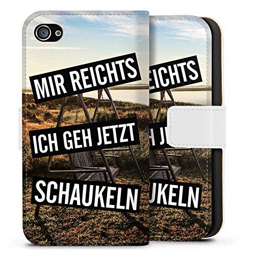 Apple iPhone X Silikon Hülle Case Schutzhülle Humor Leben Kindisch Sideflip Tasche weiß
