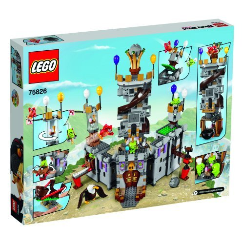 Image of LEGO 75826 Angry Birds King Pig's Castle Building Set