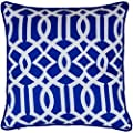 45 x 45cm Geometric Pattern Design Moroccan Tiles Cushion Arabesque Pillow Cover Decorator Covers Sofa Bed Gift Home Decor Cushion in Royal Blue - inexpensive UK light store.