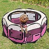 Lelestar Folding Fabric Pet Play Pen Puppy Dog Cat Rabbit Guinea Pig Playpen