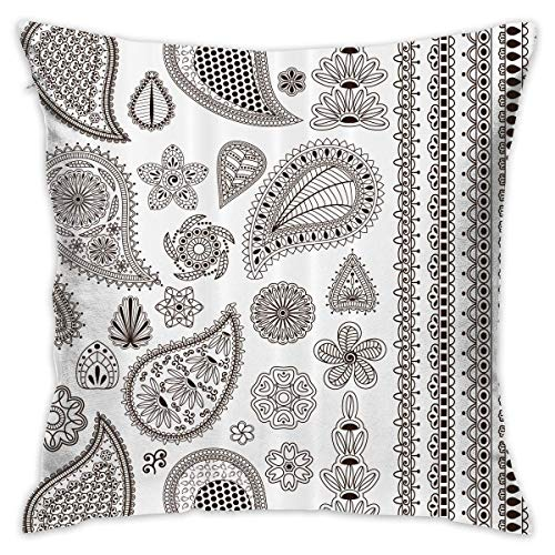Paisley Elements Throw Pillow Covers Decorative Pillowcases Toss Pillow Cushion Slips Covers for Sofa Couch Car 18