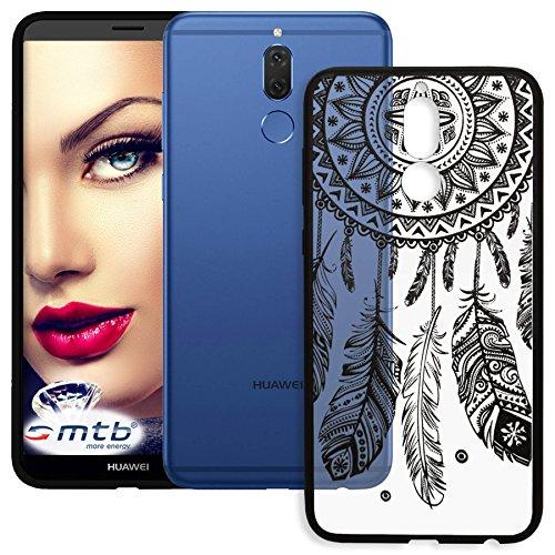 mtb more energy® Schutz-Hülle Lace für Huawei Mate 10 Lite (5.9'') | Dream Catcher | Schwarz | Case Cover Tasche