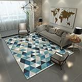 BAGEHUA Maßgeschneiderte Teppich Wohnzimmer Full Shop Moderne Schlafzimmer Home Bedroom Bedside Rug North Rechteckige Couchtisch Pad, 130X190Cm, Ms-14