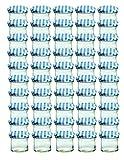 Confezione da 50/Marmellata e conserve barattolo con coperchio a vite speciale a quadretti blu 125ml