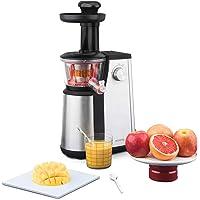 H.Koenig Extracteur de Jus de Fruits et Légumes Vertical GSX12 Noir/INOX Centrifugeuse Vitamin + sans BPA-82 mm Large…
