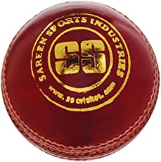 SS County Alum Tanned Cricket Ball - Single (Red)