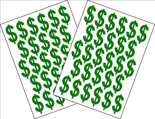 r-Zeichen-Aufkleber $ Währungszeichen 2 x A5 Blätter. Höhe 3,5CM verklebefreundlich computergeschnitten. ()