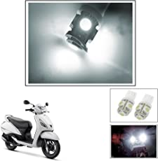 Vheelocityin 5 SMD LED Parking Bulbs for All Bikes/Motorcycle/ ScooterFor Tvs Jupiter