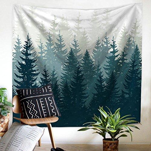 Gudoqi foresta tappezzeria hanging per pareti dormitorio poliestere per la camera da letto beach sheet panno da tavola