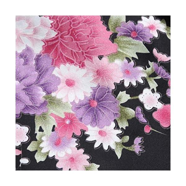Vectry Abrigo Bebé, Niña Ropa Infantil Otoño Invierno Floral Seda Satén Kimono Albornoces Albornoz Ropa De Dormir Ropa… 4