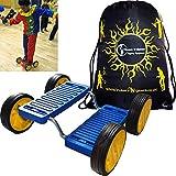 STEP FUN (BLEU) Acrobatic 4 roues plastique équilibre cirque prop Pedal Racer - parfait pour les enfants, les adultes + Flames N Games Sac de transport....