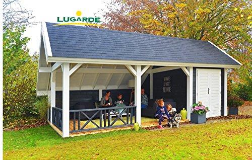Lugarde Gartenhaus Beaumont aus Fichtenholz NEU mit Asymmetrischem Dach und großem Außenbereich