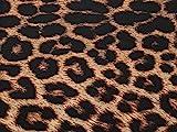 Minerva Crafts Animal Print Stretch Lycra Bademode Kleid Stoff braun–Meterware