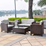 13tlg. Deluxe Gartenmöbel Set handgeflochten - von XINRO®