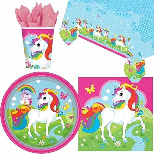 unicornio Pack de vajilla de fiesta para 8