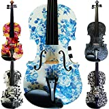 Aliyes Handmade Women/Gril Acoustic & Electric Violin 4 4 Full Size Kit Solid