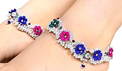 AK Enterprises ( Best Quality) Silver Plated Anklet for Women