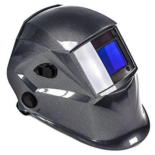 awm® WH02C Automatik Schweißhelm Schweißschirm Carbon Schweißmaske Solar Schweißbrille - Carbon Entflammbar X-schwer