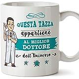 Mugffins Dottore Tazze Originali di caffè e Colazione da Regalare Lavoratori e Professionisti - Questa Tazza appartiene al Me