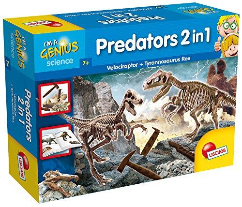 Lisciani Predators 2 in 1 Kit de experimentos - juguetes y kits de ciencia para niños (Promocionales, Kit de experimentos, 7 año(s), Niño/niña, Multicolor)