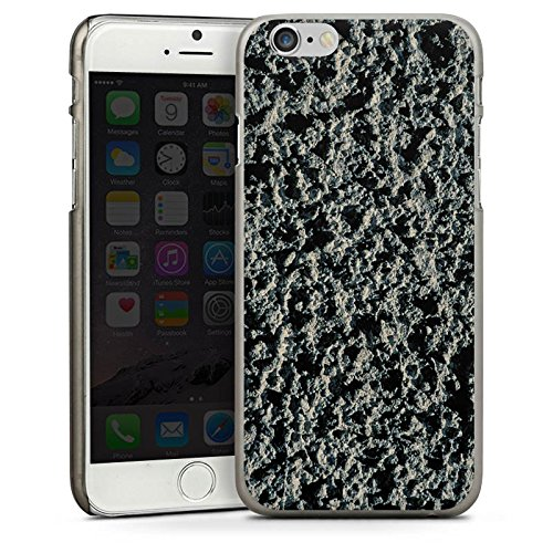 Apple iPhone 5s Housse Étui Protection Coque Roche volcanique Structure Motif pierre CasDur anthracite clair