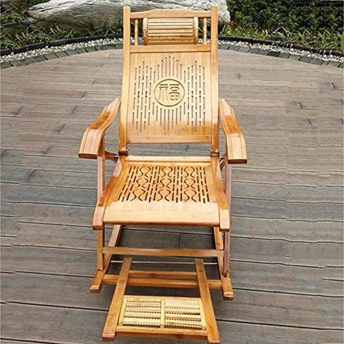 Jie ke sedia a dondolo poltrona da giardino in bambù sedia pieghevole casa siesta sedia a dondolo in bambù poltrona da uomo anziano poltrona imbottita sedia in legno massello comodo divano