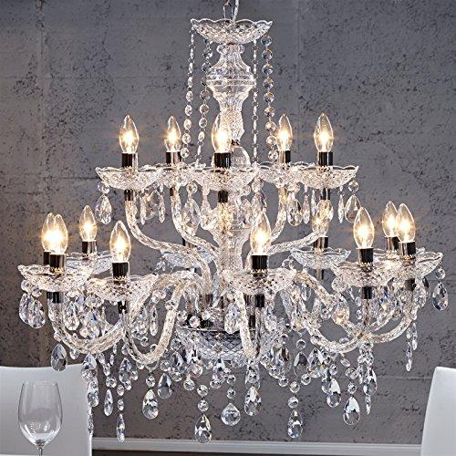 Acrylique lustre 'LUXURY' | 15 branches, Ø 82 cm, verre-transparent | lampadaire en cristaux