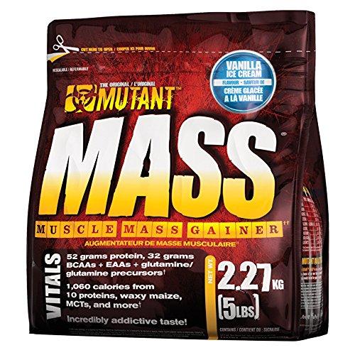 Mutant mass integratore alimentare in polvere, sapore di gelato di vaniglia, 2.2 kg