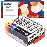 CSSTAR Compatibili Cartucce d'inchiostro Sostituzione per HP 364 364XL Multipack per Photosmart 5520 5510 6520 B109a B210a B109n DeskJet 3520 3070A Stampante - 3 Nero, 1 Ciano, 1 Magenta, 1 Giallo