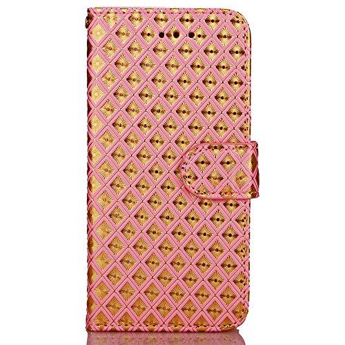 Wkae Case Cover iPhone Case Plus 7, Diamant Lattice cas de motif, étui en cuir PU Housse TPU souple avec dragonne Support Wallet Case pour Apple iPhone7 plus by DIEBELLEU ( Color : 6 , Size : Iphone 7 3