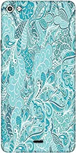 Snoogg Vector Seamless Texture With Abstract Flowers Endless Background Ethnic Sea Designer Protective Back Case Cover For Micromax Canvas Silver 5 Q450