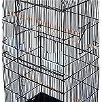 Pet Zone TALL XL BUDGIE COCKATIEL FINCH BIRD CAGE BLACK/WHITE NBH3081 (BLACK) 16