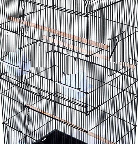 Pet Zone TALL XL BUDGIE COCKATIEL FINCH BIRD CAGE BLACK/WHITE NBH3081 (BLACK) 8