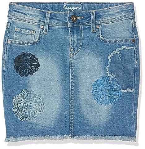Pepe Jeans Girl's Free Jr Skirt, Blue (Denim), 14 Years