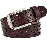 McFanBe Cintura da Donna in Pelle per Jeans da Abito Pantaloni da Donna con Cinturino in Vita