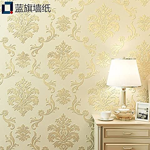 BIZHI 3d Damask Wallpaper For Home Contemporary Wall Covering Non-woven fabric Material Adhesive required Wallpaper ,90604