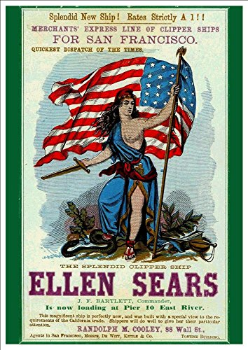merchants-express-line-for-san-fransisco-the-splendid-clipper-ship-ellen-sears-a4-glossy-art-print-t
